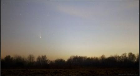 cometa deasupra Bucurestiului