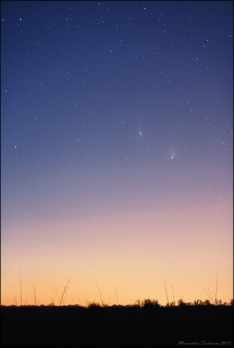 PanSTARRS and M 31 April 4, 2013 wide