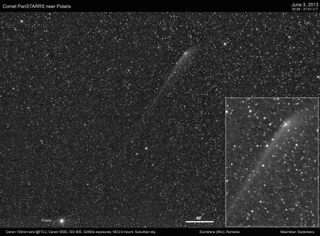 Comet PansSTARRS near Polaris
