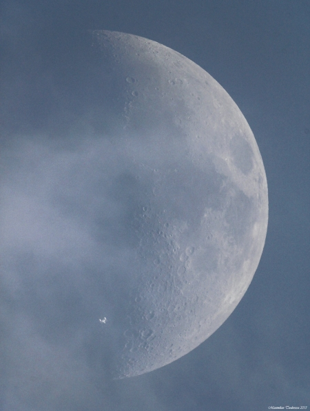 ISS Moon transit small