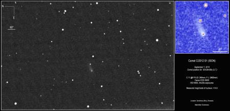 Comet ISON Sept 7, 2013