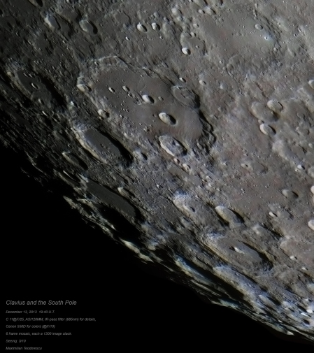Clavius and the South Pole color