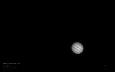 Jupiter with Ganymede and Io