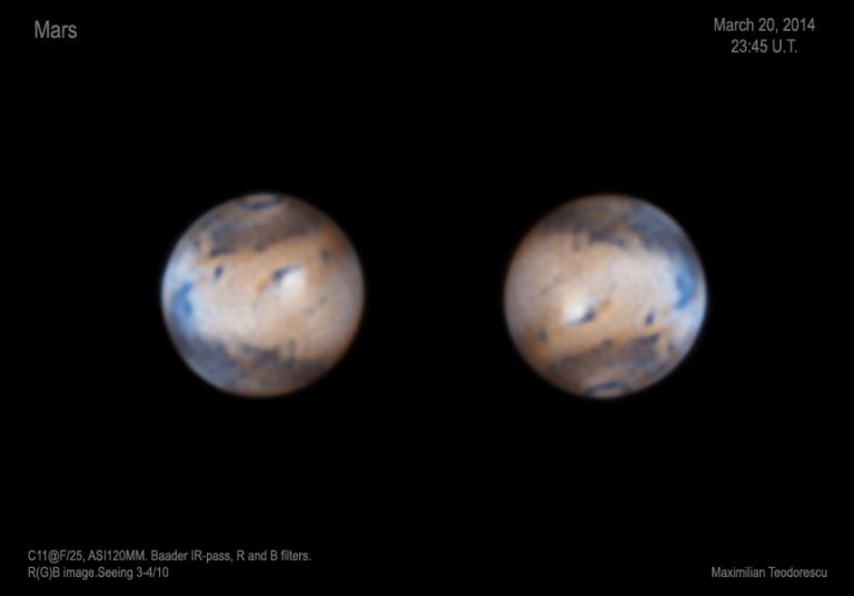 Mars March 20, 2014 R(G)B