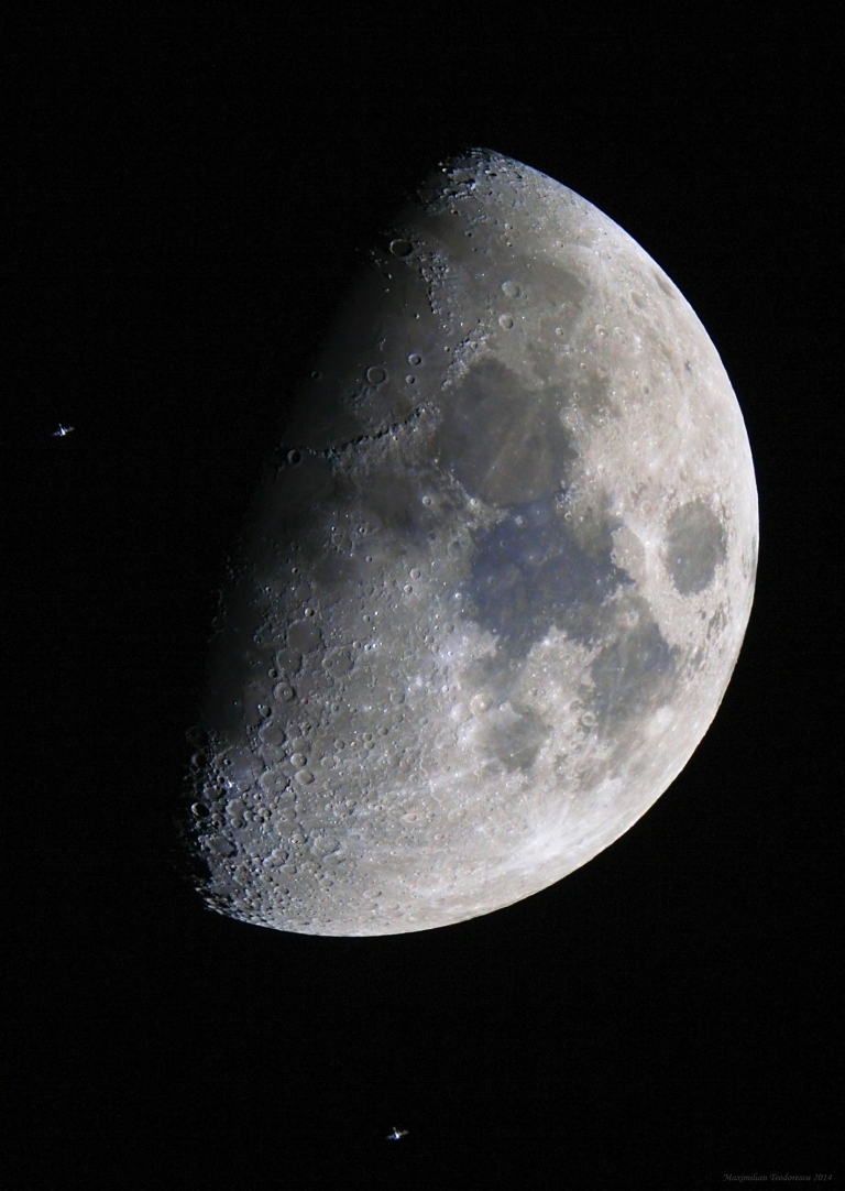 ISS over the Moon
