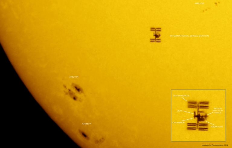 ISS and Sun June 30