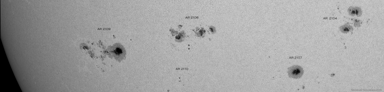 Sunspot groups July 5, 2014
