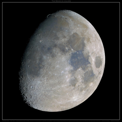 LARGE MOON MOSAIC in colors