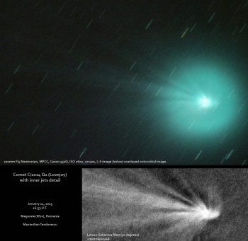 Comet Q2 with jets